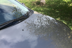 Result of paint protection on a Lancer - mirror like reflection in car bonnet