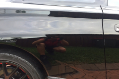 Paint correction on a black celica - result of car detailing near me in Maitland NSW